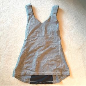 Lululemon Gray Striped Tank Top
